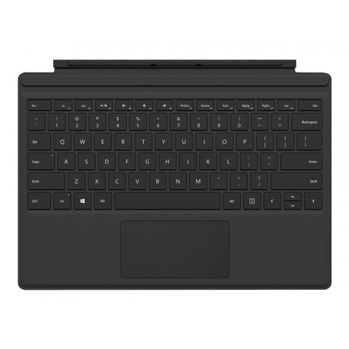 Microsoft Surface Pro Type Cover (M1725) - Keyboard - with trackpad, accelerometer - UK layout - black - commercial - for Surface Pro (Mid 2017), Pro 3, Pro 4