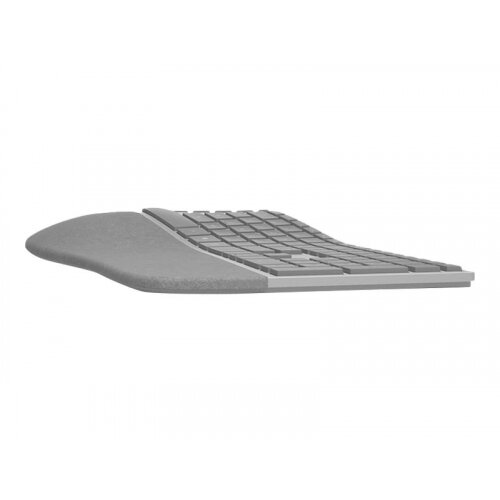 Microsoft Surface Ergonomic Keyboard - Keyboard - wireless - Bluetooth 4.0 - English - United Kingdom - alcantara grey - commercial