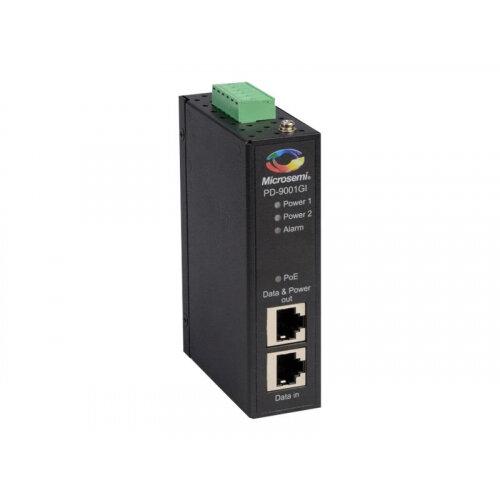 Microsemi PD-9001GI/DC - PoE injector (DIN rail mountable) - DC 20 - 60 V - 30 Watt - output connectors: 1