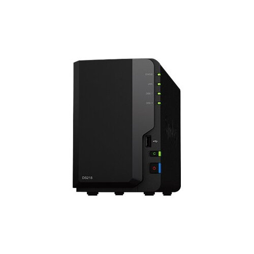 Synology Disk Station DS218 - NAS server - 2 bays - SATA 6Gb/s - RAID 0, 1, JBOD - RAM 2 GB - Gigabit Ethernet - iSCSI