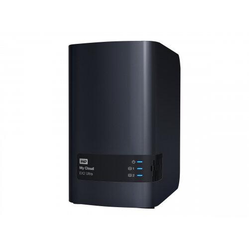WD My Cloud EX2 Ultra WDBVBZ0060JCH - Personal cloud storage device - 2 bays - 6 TB - HDD 3 TB x 2 - RAID 0, 1, JBOD - RAM 1 GB - Gigabit Ethernet - iSCSI