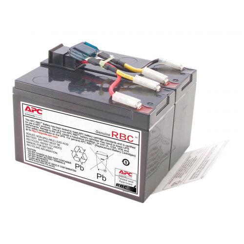 APC Replacement Battery Cartridge #48 - UPS battery - 1 x Lead Acid - for P/N: DLA750, DLA750I, SMT750, SMT750I, SMT750TW, SMT750US, SUA750, SUA750I, SUA750IX38