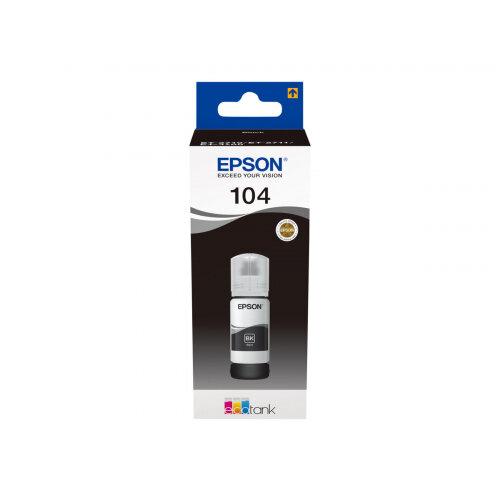 Epson EcoTank 104 - 70 ml - black - original - ink tank - for EcoTank ET-2710, ET-2711, ET-2720, ET-2720 All-in-One Supertank Printer, ET-2726, ET-4700