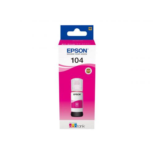 Epson EcoTank 104 - 70 ml - magenta - original - ink tank - for EcoTank ET-2710, ET-2711, ET-2720, ET-2720 All-in-One Supertank Printer, ET-2726, ET-4700