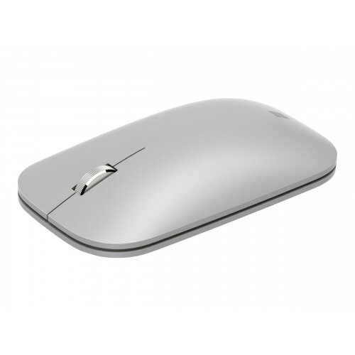 Microsoft Surface Mobile Mouse - Mouse - optical - 3 buttons - wireless - Bluetooth 4.2 - platinum - commercial