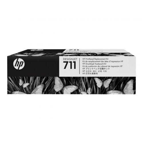 HP 711 - Black, yellow, cyan, magenta - printhead - for DesignJet T120, T120 ePrinter, T520, T520 ePrinter