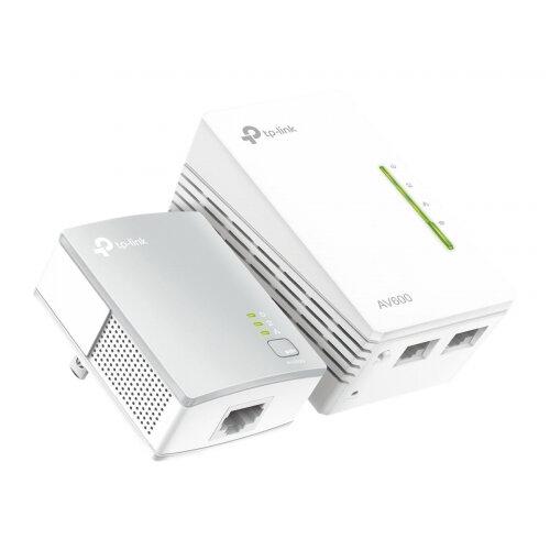 TP-Link TL-WPA4220 KIT AV600 WiFi Powerline Extender - V4 - bridge - HomePlug AV (HPAV), IEEE 1901 - 802.11b/g/n - 2.4 GHz - wall-pluggable