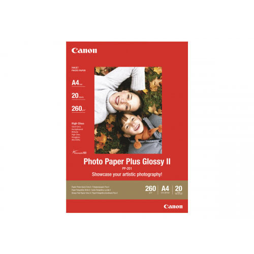 Canon Photo Paper Plus Glossy II PP-201 - High-glossy - 270 micron - 89 x 89 mm - 265 g/m&up2; - 20 sheet(s) photo paper