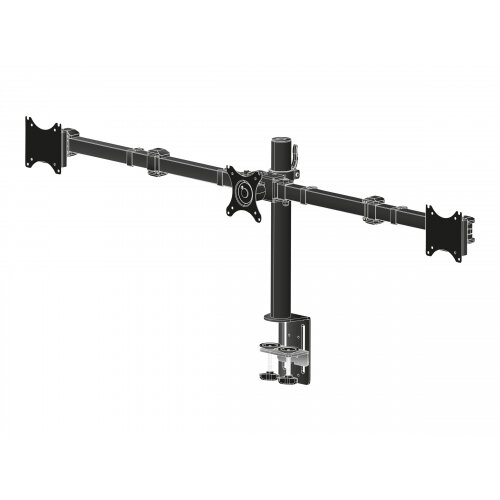 Iiyama DS1003C-B1 - Stand for 3 monitors (adjustable arm) - black - screen size: 10&uot;-27&uot; - desktop stand