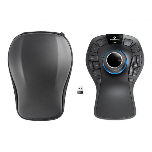 3Dconnexion SpaceMouse Pro Wireless - 3D mouse - 15 buttons - wireless - 2.4 GHz - USB wireless receiver