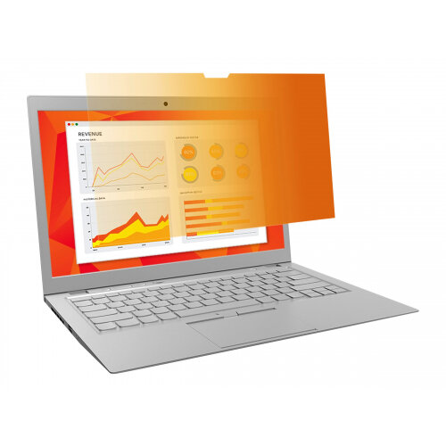 3M Gold Privacy Filter for 14&uot; Widescreen Laptop - Notebook privacy filter - 14&uot; - gold