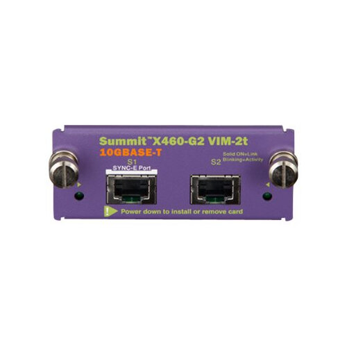 Extreme Networks Summit X460-G2 Series VIM-2t - Expansion module - 10 GigE - 10GBase-T - for ExtremeSwitching X460-G2 Series
