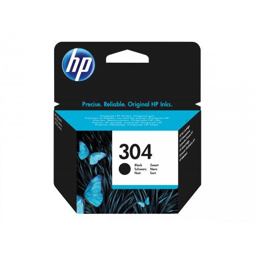HP 304 - Black - original - blister - ink cartridge - for AMP 130; Deskjet 26XX, 37XX; Envy 50XX