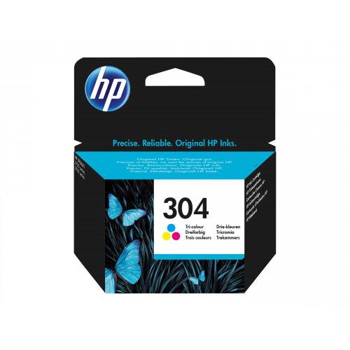 HP 304 - Dye-based tricolour - original - blister - ink cartridge - for AMP 130; Deskjet 26XX, 37XX; Envy 50XX