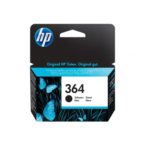 HP 364 - 6 ml - black - original - ink cartridge - for Deskjet 35XX; Photosmart 55XX, 55XX B111, 65XX, 65XX B211, 7510 C311, 7520, eStation C510