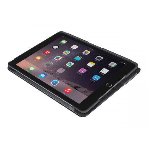 Logitech Slim Folio - Keyboard and folio case - Bluetooth - German - black - for Apple 9.7-inch iPad (5th generation, 6th generation)