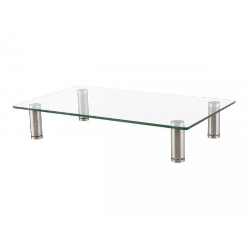 Vision VFM-MRG - Stand for Monitor - stainless steel, aluminium, tempered glass - chrome - desktop
