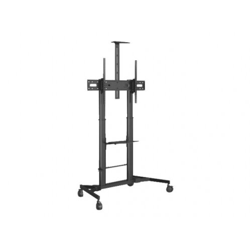 Vision VFM-F25 - Cart for LCD display / notebook / video conference camera - heavy duty steel - black powder coat - screen size: 60&uot;-100&uot;
