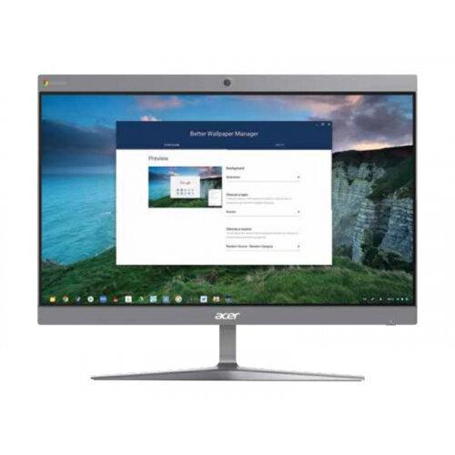 Acer Chromebase CA24I2 - All-in-one - 1 x Celeron 3867U / 1.8 GHz - RAM 4 GB - SSD 32 GB - HD Graphics 610 - GigE - WLAN: 802.11a/b/g/n/ac, Bluetooth 4.2 - Chrome OS - monitor: LED 23.8&uot; 1920 x 1080 (Full HD)