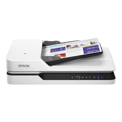 Epson WorkForce DS-1660W - Document scanner - Duplex - A4/Legal - 1200 dpi x 1200 dpi - up to 25 ppm (mono) / up to 25 ppm (colour) - ADF (50 sheets) - up to 1500 scans per day - USB 3.0, Wi-Fi(n)