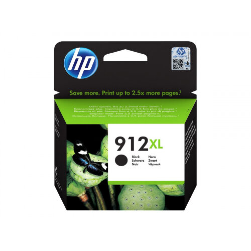HP 912XL - High Yield - black - original - ink cartridge - for Officejet 8012, 8013, 8014, 8015; Officejet Pro 8020, 8022, 8024, 8025, 8035