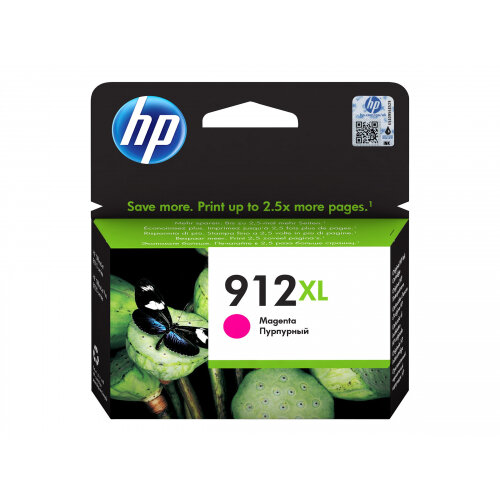 HP 912XL - 10.4 ml - High Yield - magenta - original - ink cartridge - for Officejet 8012, 8013, 8014, 8015; Officejet Pro 8020, 8022, 8024, 8025, 8035