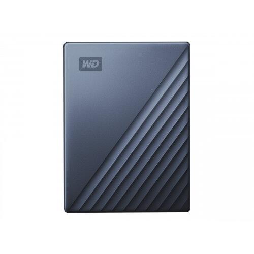 WD My Passport Ultra WDBFTM0040BBL - Hard drive - encrypted - 4 TB - external (portable) - USB 3.0 (USB-C connector) - 256-bit AES - blue