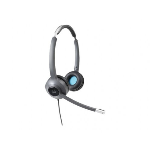 Cisco 522 Wired Dual - Headset - on-ear - wired - 3.5 mm jack