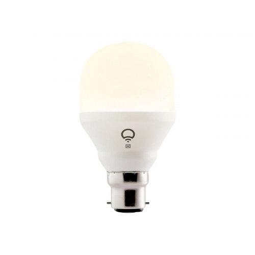 LIFX Mini White - LED light bulb - shape: A19 - B22 - 9 W - class A+ - warm white light - 2700 K - pearl white