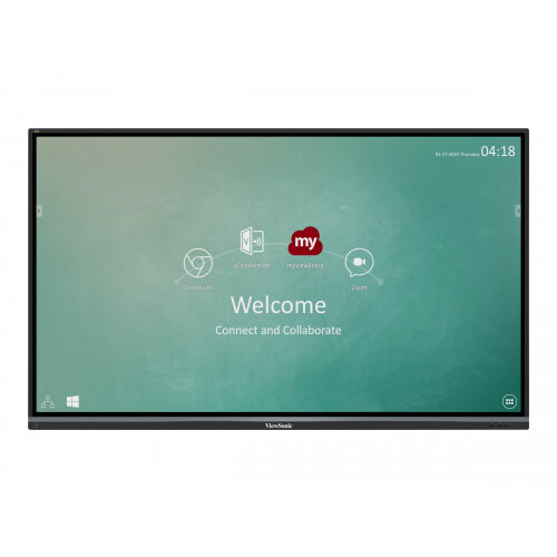 ViewSonic ViewBoard IFP7550-2EP - 75&uot; Class (74.5&uot; viewable) LED display - interactive - with touchscreen (multi touch) - 4K UHD (2160p) 3840 x 2160