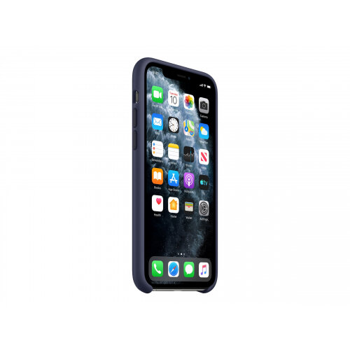 Apple - Back cover for mobile phone - silicone - midnight blue - for iPhone 11 Pro