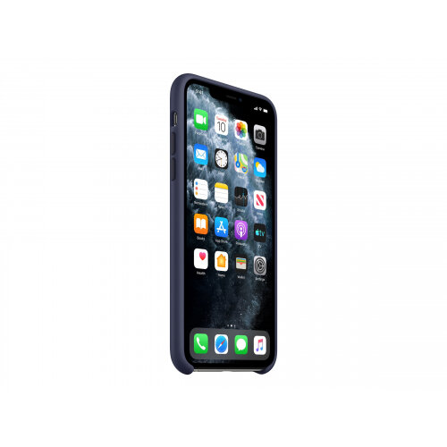 Apple - Back cover for mobile phone - silicone - midnight blue - for iPhone 11 Pro Max