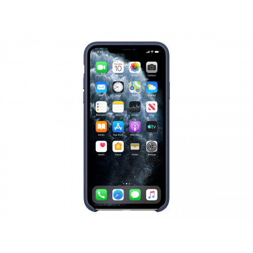 Apple - Back cover for mobile phone - leather, machined aluminium - midnight blue - for iPhone 11 Pro Max