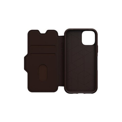 OtterBox Strada Series - Flip cover for mobile phone - leather, polycarbonate - espresso brown - for Apple iPhone 11 Pro