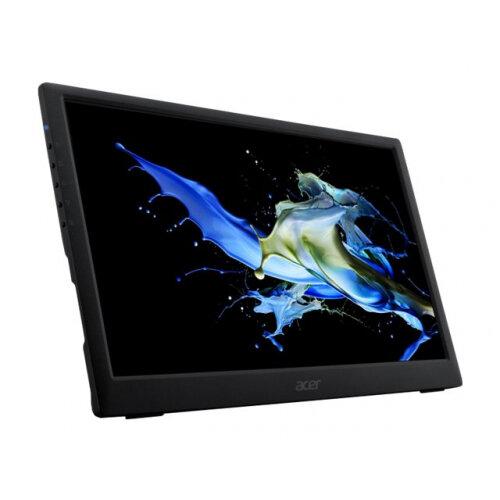 Acer PM161Q - LED monitor - 15.6&uot; - portable - 1920 x 1080 Full HD (1080p) - IPS - 220 cd/m&up2; - 800:1 - 15 ms - USB-C - black - for TravelMate P614-51-51, P614-51T-51, P614-51T-59, P614-51T-71, P614-51TG-52, TMP614-51-588