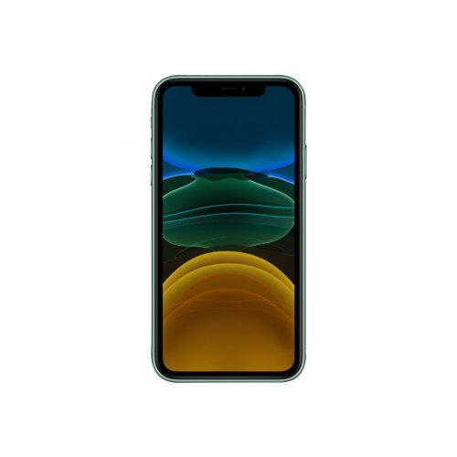 Apple iPhone 11 - Smartphone - dual-SIM - 4G Gigabit Class LTE - 256 GB - GSM - 6.1&uot; - 1792 x 828 pixels (326 ppi) - Liquid Retina HD display (12 MP front camera) - 2x rear cameras - green