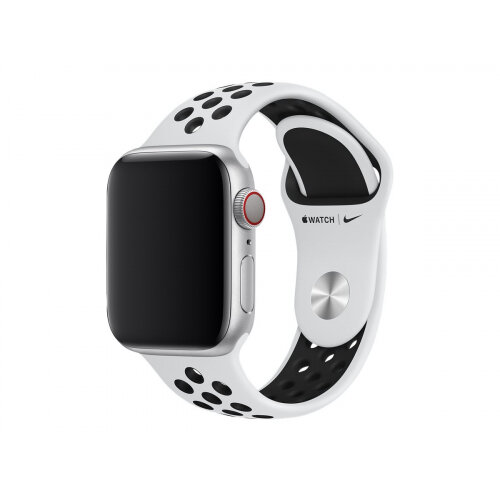 Apple 40mm Nike Sport Band - Watch strap - 130-200 mm - pure platinum/black - for Watch (38 mm, 40 mm)