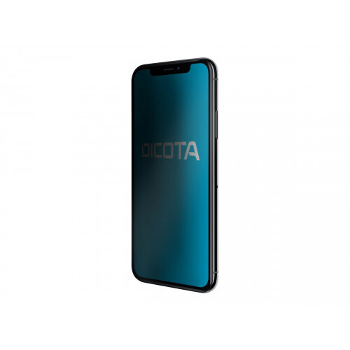 DICOTA Secret - Screen privacy filter for mobile phone - 4-way - transparent - for Apple iPhone X