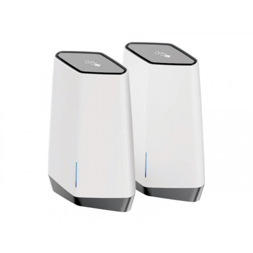 NETGEAR Orbi Pro SXK80 - Wi-Fi system (router, extender) - mesh - GigE, 2.5 GigE, 802.11ax - 802.11a/b/g/n/ac/ax - Tri-Band - wall-mountable, ceiling-mountable
