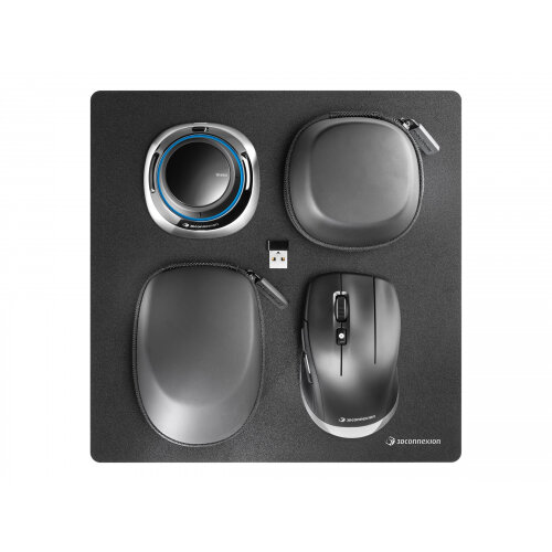 3Dconnexion SpaceMouse - Wireless Kit 2 - 3D mouse - 2 buttons - wireless, wired - 2.4 GHz - USB wireless receiver