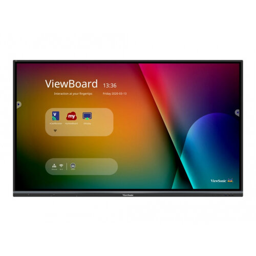 ViewSonic ViewBoard IFP7550-3 - 75&uot; Diagonal Class (74.5&uot; viewable) LED display - interactive - with optional slot-in PC capability and touchscreen (multi touch) - 4K UHD (2160p) 3840 x 2160 - D-LED Backlight