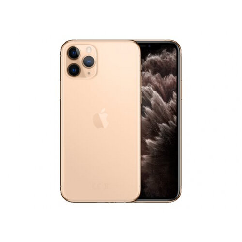 Apple iPhone 11 Pro - Smartphone - dual-SIM - 4G Gigabit Class LTE - 512 GB - GSM - 5.8&uot; - 2436 x 1125 pixels (458 ppi) - Super Retina XDR Display (12 MP front camera) - 3x rear cameras - gold