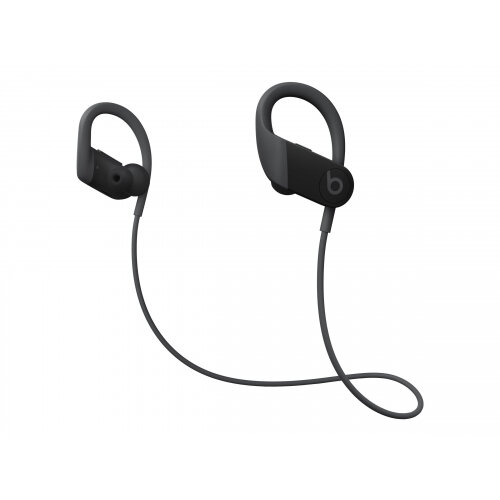 Beats Powerbeats High-Performance - Earphones with mic - in-ear - over-the-ear mount - Bluetooth - wireless - noise isolating - black - for iPad/iPhone/iPod/TV/Watch