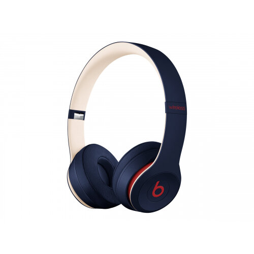 Beats Solo3 - Beats Club Collection - headphones with mic - on-ear - Bluetooth - wireless - noise isolating - club navy - for 10.5-inch iPad Air; 11-inch iPad Pro; iPad mini 5; iPhone 8, SE, X, XR, XS, XS Max
