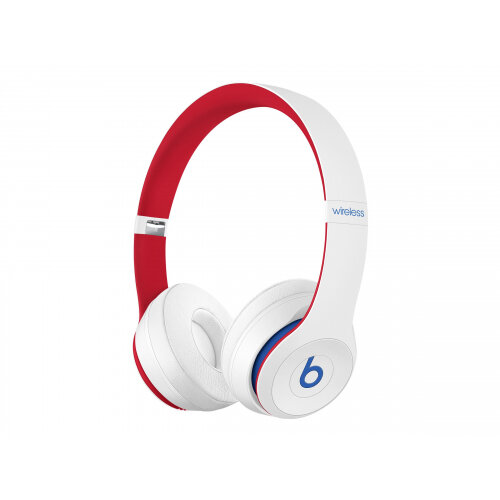 Beats Solo3 - Beats Club Collection - headphones with mic - on-ear - Bluetooth - wireless - noise isolating - club white - for 10.5-inch iPad Air; 11-inch iPad Pro; iPad mini 5; iPhone 8, SE, X, XR, XS, XS Max