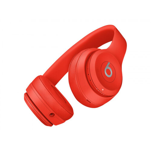 Beats Solo3 (PRODUCT)RED - Headphones with mic - on-ear - Bluetooth - wireless - 3.5 mm jack - noise isolating - citrus red - for iPad/iPhone/iPod/TV/Watch