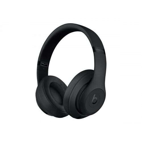 Beats Studio3 Wireless - Headphones with mic - full size - Bluetooth - wireless - active noise cancelling - noise isolating - matte black - for iPad/iPhone/iPod/TV/Watch