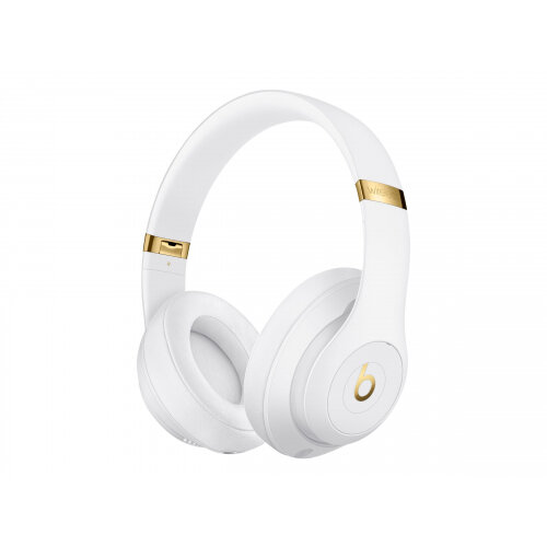 Beats Studio3 Wireless - Headphones with mic - full size - Bluetooth - wireless - active noise cancelling - noise isolating - white - for iPad/iPhone/iPod/TV/Watch