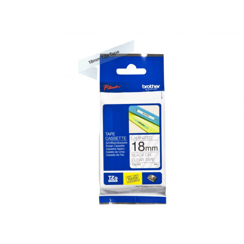 Brother TZe-141 - Standard adhesive - black on clear - Roll (1.8 cm x 8 m) 1 roll(s) laminated tape - for Brother PT-D600; P-Touch PT-1880, D450, E550, E800, P900, P950; P-Touch Cube Plus PT-P710