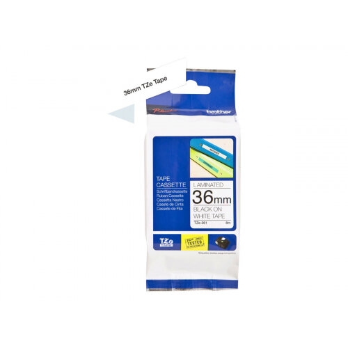 Brother TZe-261 - Standard adhesive - black on white - Roll (3.6 cm x 8 m) 1 roll(s) laminated tape - for P-Touch PT-3600, 530, 550, 9200, 9400, 9500, 9600, 9700, 9800, D800, E800, P900, P950